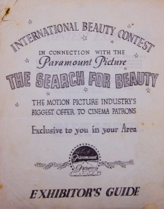 Exhibitor's Guide to Paramount Beauty Contest
